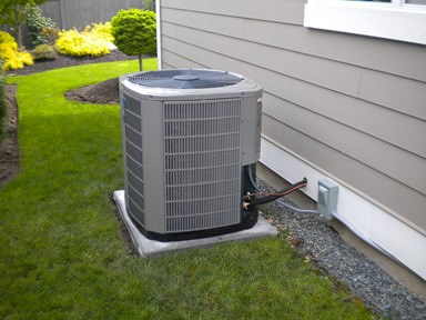 A Ductless Mini Split Heat Pump installed at a residence
