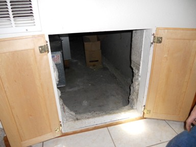 Access to crawl space.