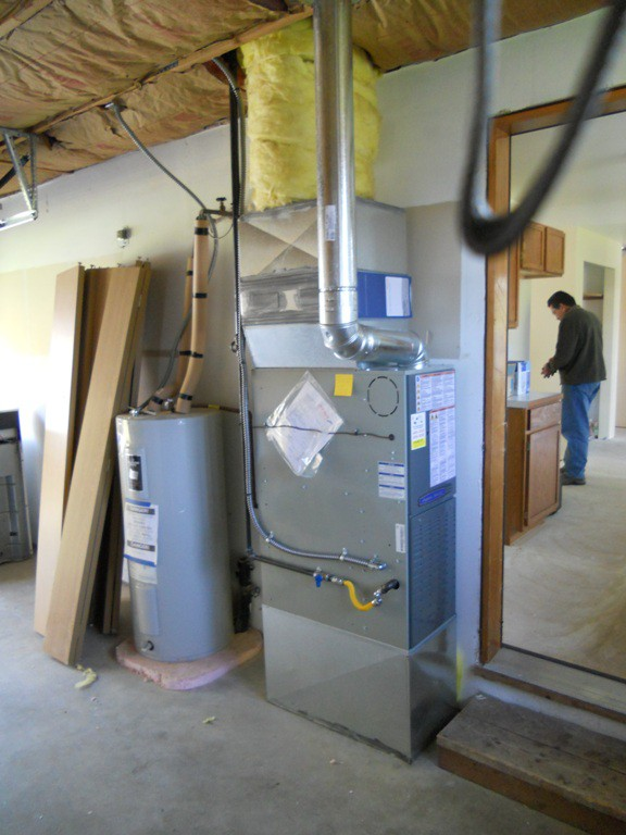 New American Standard 80% Gas Furnace Installed