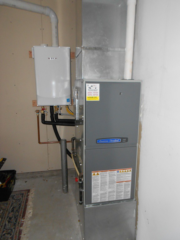 New Variable Speed 2 stage 95% American Standard Furnace