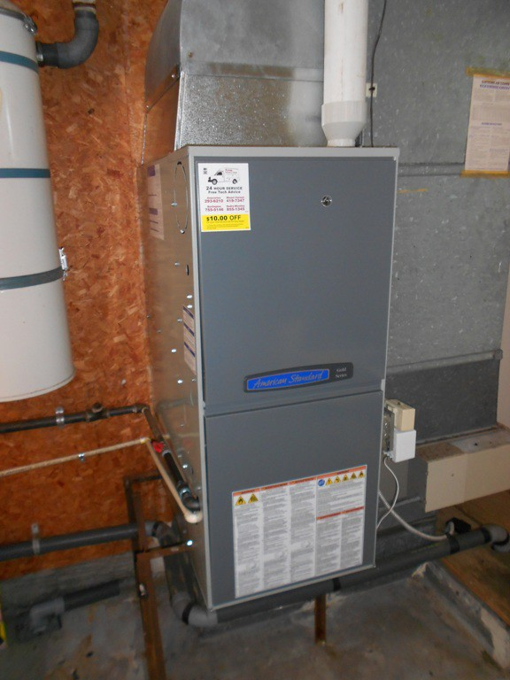 95% 2 stage variable speed American Standard heating system