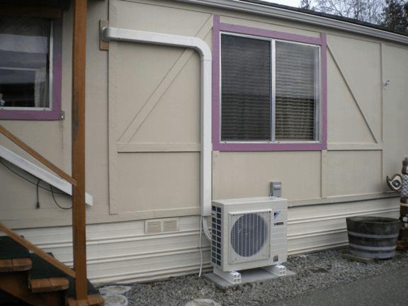 Daikin ductless mini split outdoor unit.