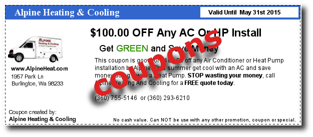Coupons For Alpine Heating And Cooling