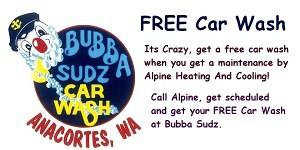 Bubba Sudz FREE Car Wash Promotion