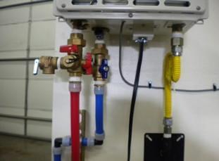 Tankless flush kit installed