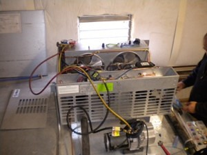 Refrigeration Unit. Compressor Replacement