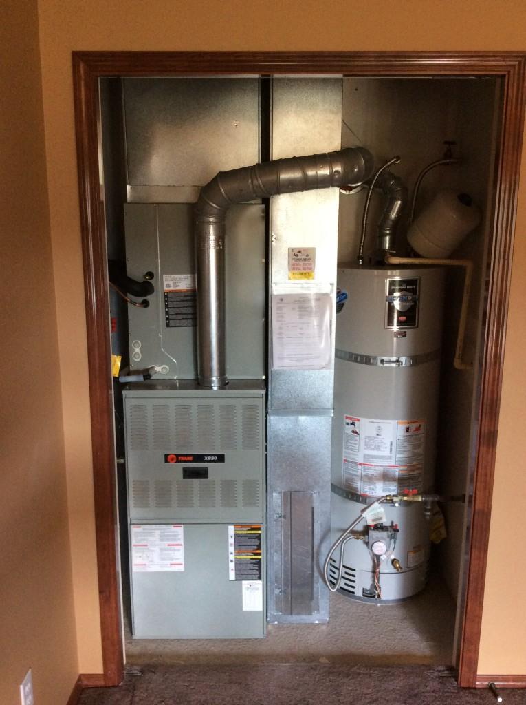 american standard ac in a trane furnace